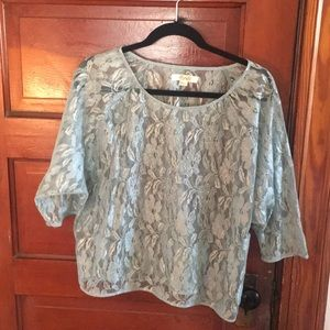 Large Beaded Sheer Lace Top